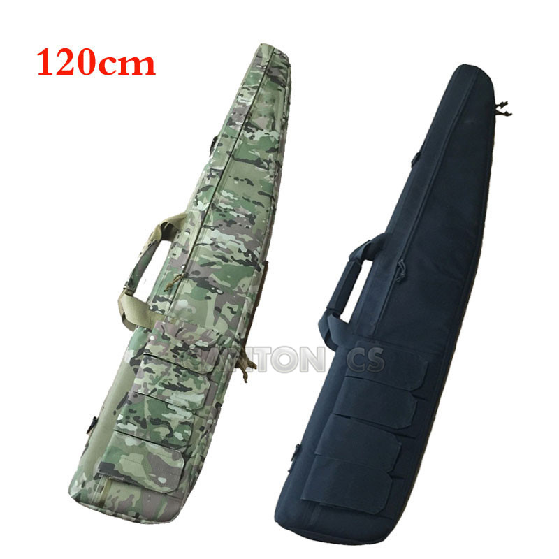120cm Dual Rifle Square Carry Bag with Shoulder Strap Gun Protection Case Backpack Air Shot gun BagsTactical Hunting Backpack