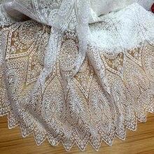 5 ярдов классическая белая органза симметричная Цветочная вышивка