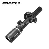 FIRE WOLF Новый 2 7X24 винтовка оптика Сфера ж/крепления Бесплатная доставка red dot reddot Riflescopes Охота