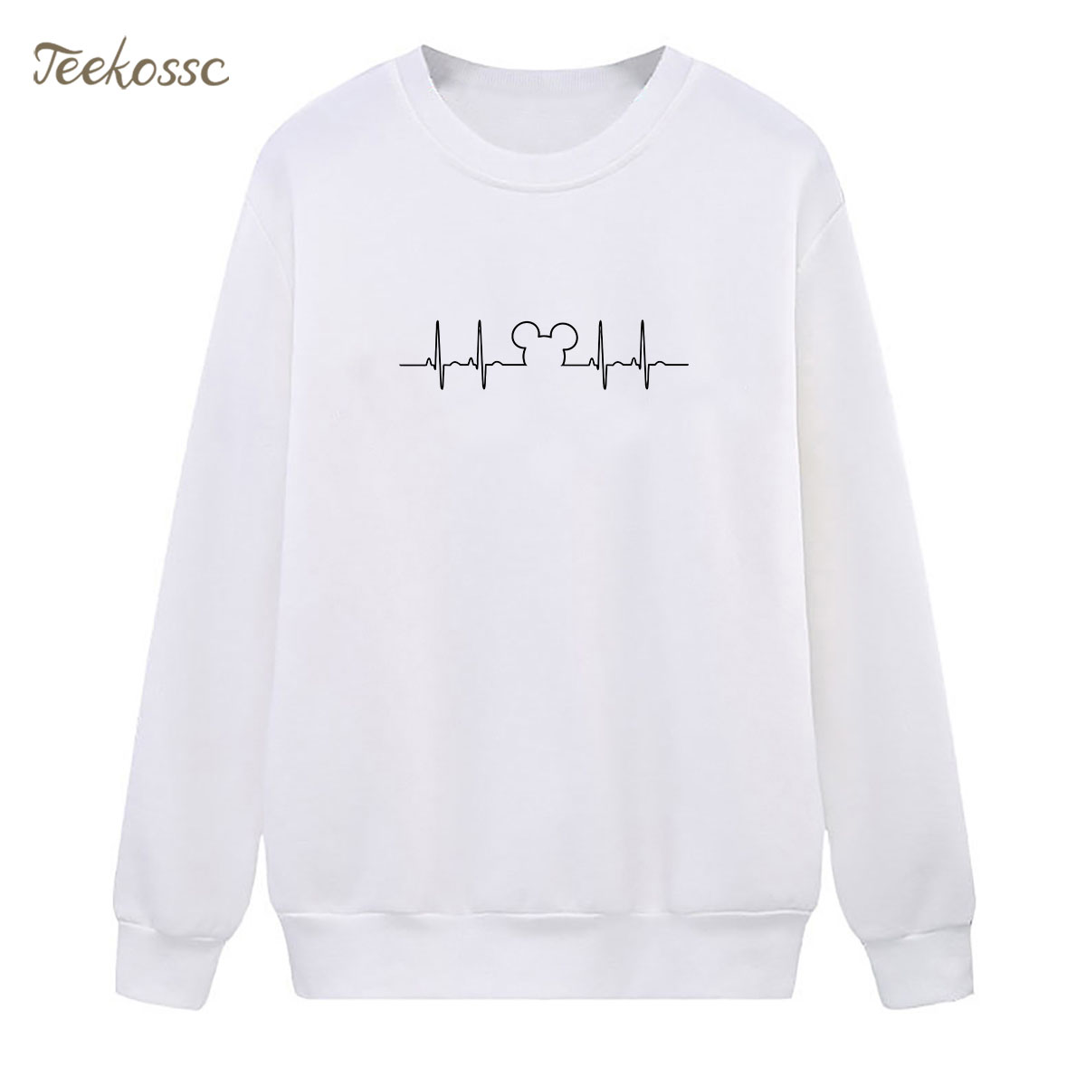 Cute Simple Sweatshirt White Hoodie 2018 New Design Winter Autumn Women Lasdies Pullover Fleece Warm Loose Casual Streetwear