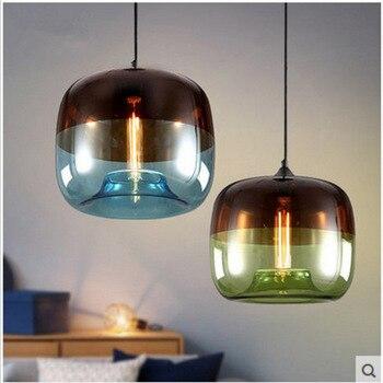 Новый американский промышленный Лофт винтажный подвесной светильник черный белый Железный Эдисон стеклянный Ретро Лофт винтажный подвесн...