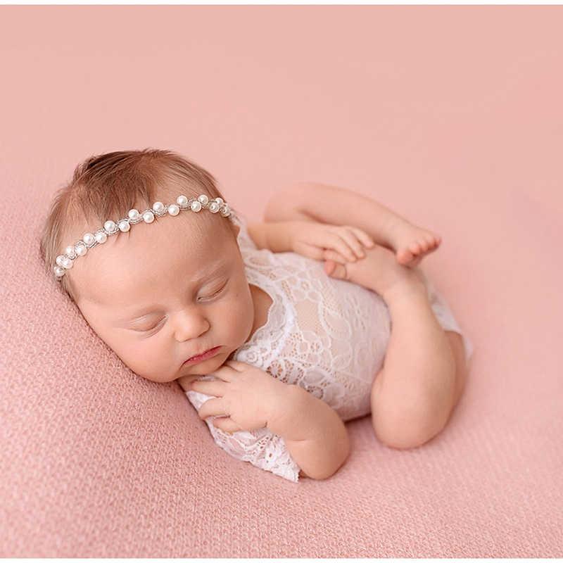Новый мягкий, для новорожденного ребенка, реквизит для фотосъемки, детский комбинезон, модный кружевной Детский костюм для игр, одежда белого и черного цвета, Комбинезоны