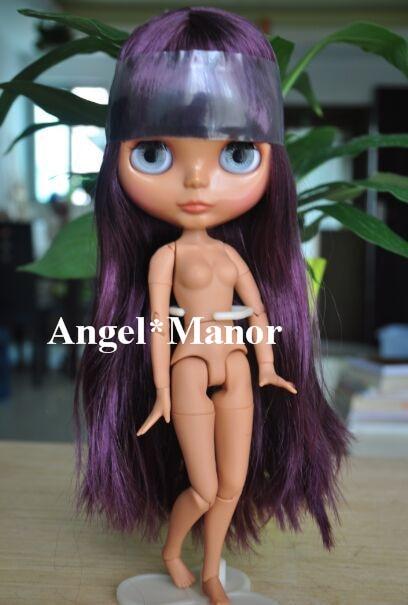 Блит кукла с объединенная тела, Фиолетовый длинные волосы, Темной кожей, День святого валентина подарок, Ght010 ...