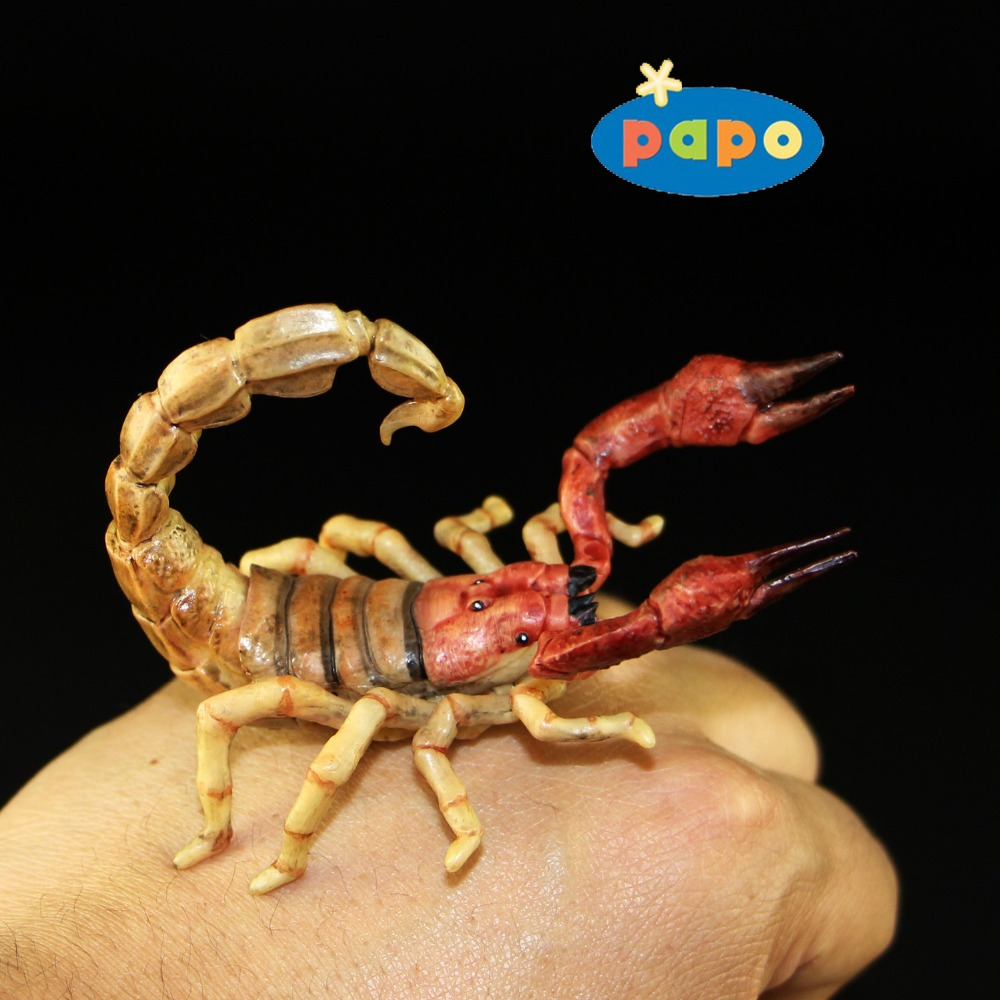 2016 Papo Simulated Insect Animal TOYS 1:1 Scorpion Model 8CM