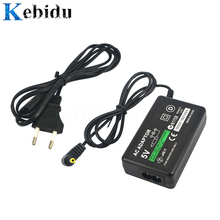 Kebidu домашнее настенное зарядное устройство адаптер переменного тока Шнур питания для sony psp 1000 2000 3000 тонкий EU штекер