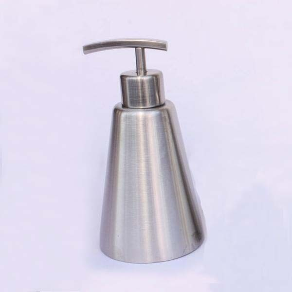 300ml Stainless steel hand sanitizer bottles empty emulsion pump bottle refillable lotion container free shipping