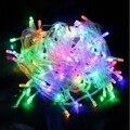 Led de Navidad Luz de la Secuencia 10 M 20 M 30 M 50 M 100 M Al Aire Libre Cadena de hadas de Luz Garland Impermeable 110 V 220 V Para La Boda De Navidad partido