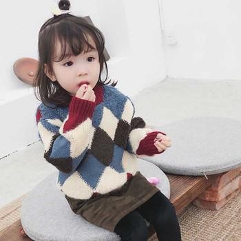 Nowy 2019 dzieci dziecko swetry dla chłopców i dziewcząt blok chłopców swetry zimowe dziewczyny swetry dzianiny dzieci swetry Casual chłopców odzież tanie i dobre opinie campure Europejskich i amerykańskich style COTTON REGULAR Pasuje prawda na wymiar weź swój normalny rozmiar Unisex