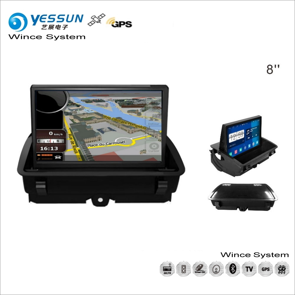 YESSUN For Audi Q3 / A1 2011~2014 - Car Wince Multimedia Radio CD DVD Player GPS Navi Map Navigation Audio Video Stereo System yessun for mazda cx 5 2017 2018 android car navigation gps hd touch screen audio video radio stereo multimedia player no cd dvd