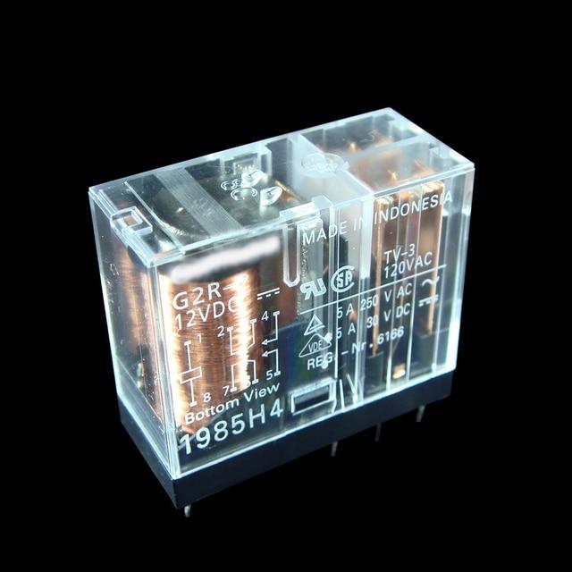 Power PCB Relay G2R 2 5VDC G2R 2 12VDC G2R 2 24VDC DC5V 12V 24V Relay 5A 8pin