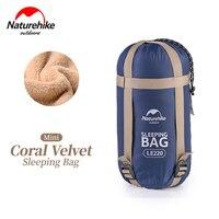 NatureHike Coral Velvet Envelope Sleeping Bag Ultralight For Hiking Camping Traveling 190 75cm NH17S015 S