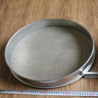 stainless steel Vibrating screen vibrating <font><b>screening</b></font> machine sieve small electric screen medium powder wood powd diameter 40cm image