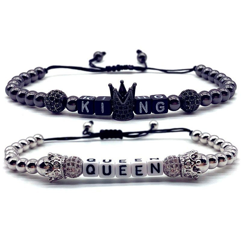 bracelet couple king queen