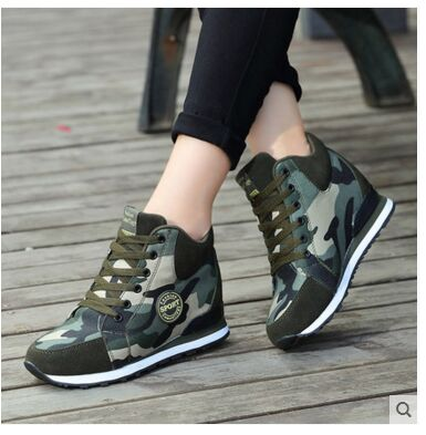 c8e8abcd0987e Running Shoes Women Hidden Heels Sneaker High Heel Sport Shoes Sneakers  Glowing Running Shoes For Women Brand Wedge Heels-in Running Shoes from  Sports ...