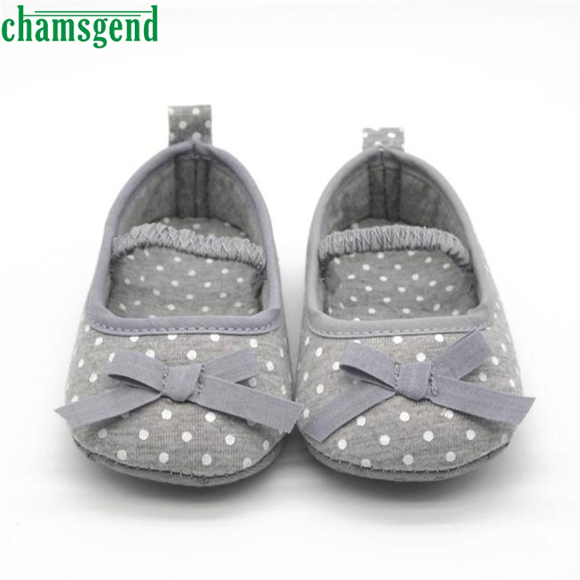 CHAMSGEND Best Seller baby shoes cute lovely autumn winter Infant Girls Dot Bowknot Soft Bottom Prewalker S35