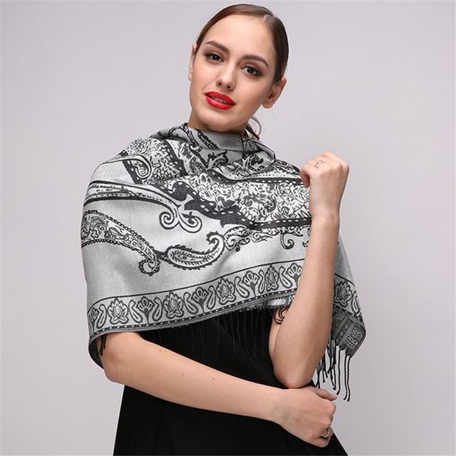 c54bd863710 Newest Design Bandana Printing Winter Scarf Women Shawls Fashion  Euramerican Style Scarf Pashmina Wraps Foulard Femme Echarpe
