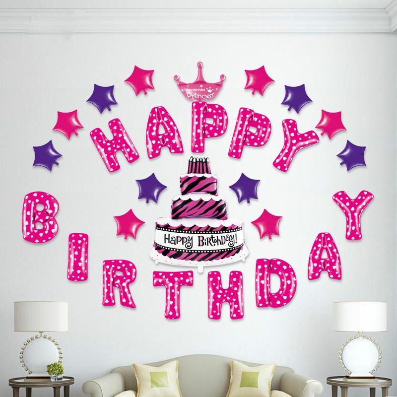 Happy Birthday Party Folienballon Sets Baby Shower Taufe ...