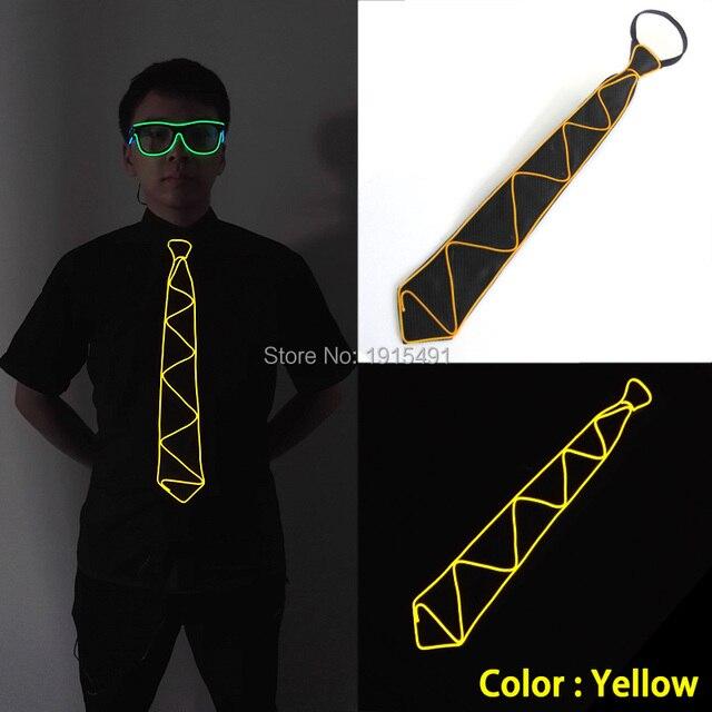 high grade 10 color choice flickering el wire men s tie holiday
