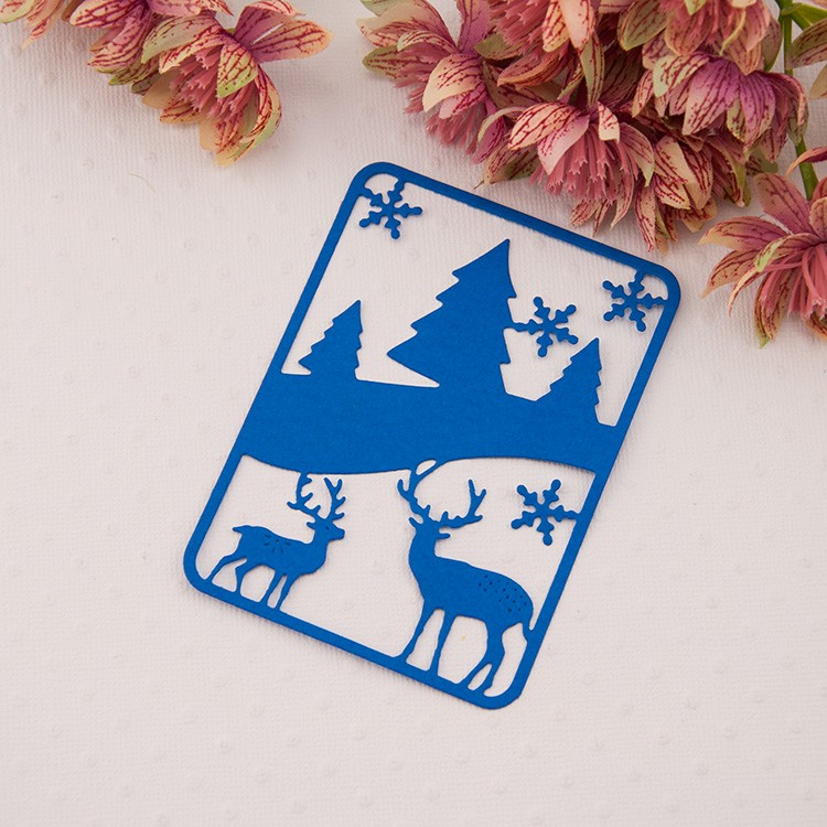 Metal Christmas deer cutting Dies Stencils for DIY Scrapbooking photo album Decorative Embossing DIY Paper Cards frame vintage 5pcs set card cutting stencil for paper metal die cutting scrapbooking embossing folder troqueles metal