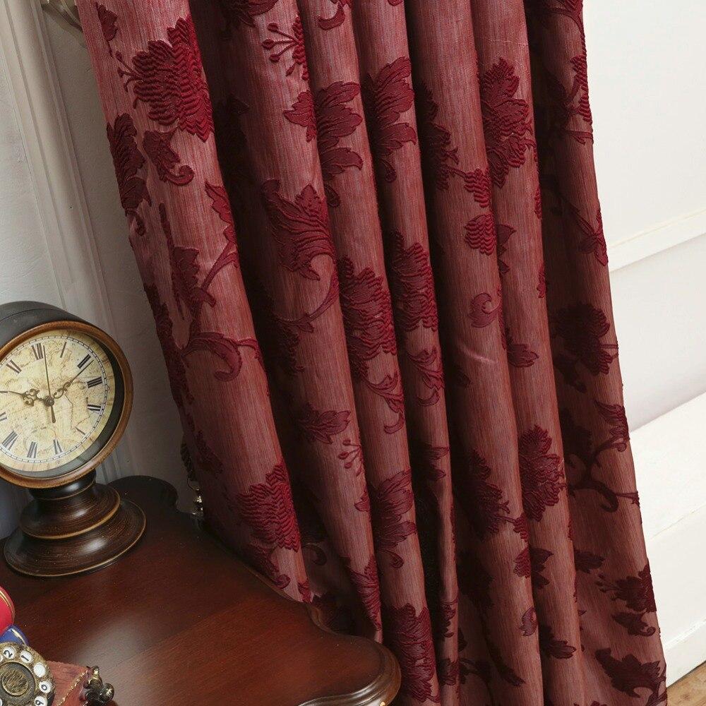 Bruin semi verduisterende gordijnen blind luxe jacquard ontwerp mode ...