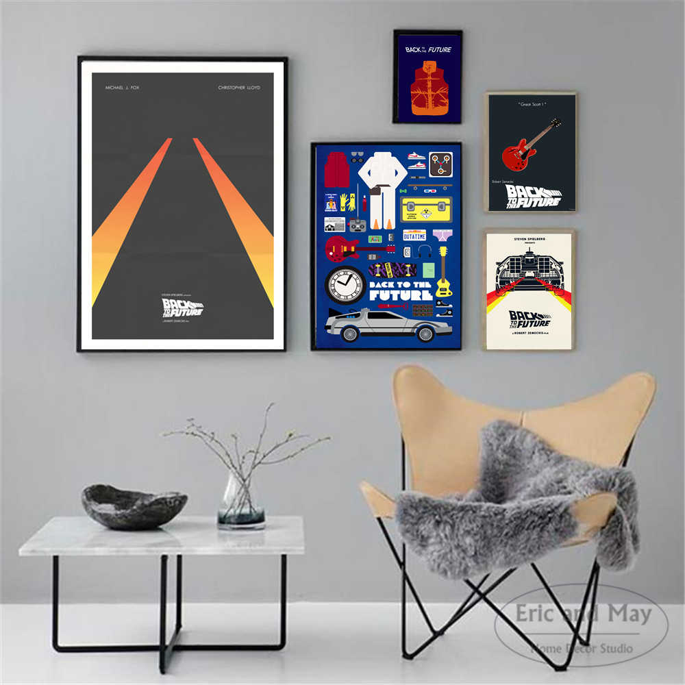 Back To The Future Minimalist Posters And Prints Wall Art Canvas Painting For Living Room Decoration Home Decor Unframed Quadro