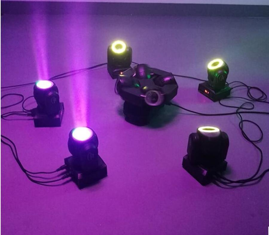com 12led smd5050 rgb super brilhante led dj ponto luz dmx controle