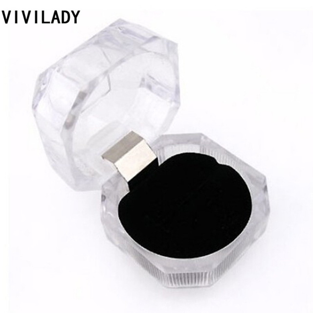 VIVILADY 20pcs/lot Jewelry Packaging Displays Gifts Boxes 4*4cm for Rings Earrings Black Wholesale Price Free Shipping Organizer