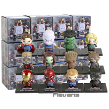 Avengers Infinity War Iron Man Thanos Doctor Strange Captain America Black Panther Hulk Star Lord PVC Figures Toys 12pcs/set