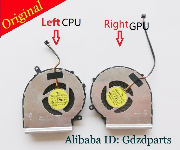New CPU GPU Cooling fan For Msi GP62 2QE GE72 GL62 GL72 PE70 PE60 GE62  Laptop Cooler Radiators Cooling Fan