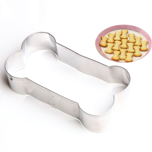 Stainless Steel Bone Mold Metal Fondant Mould Biscuit Cookie Cutters