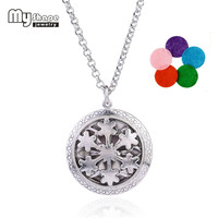 my shape New Design Snowflake Flower Locket Pendant Essential Oil Aromatherapy Diffuser Necklace Jewelry Women Accessories