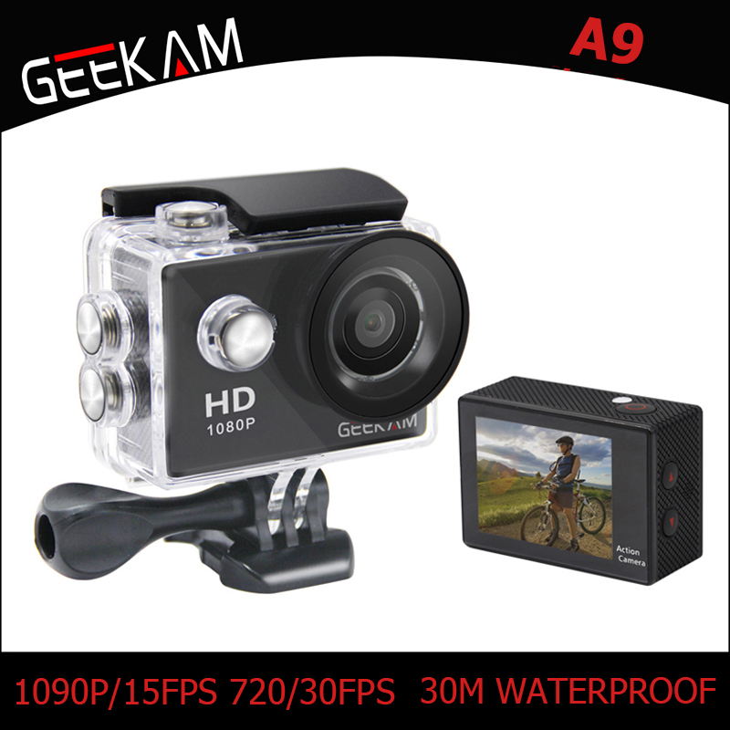 Originele GEEKAM A9 Action Camera 1080 P 140D Full HD 2 '' 30 M - Camera en foto