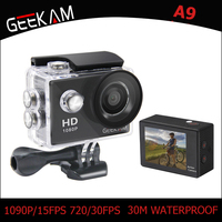 Original GEEKAM A9 Action Camera 1080P 140D Full HD 2'' 30M Waterproof Outdoor Mini Cam 1920*1080 go Sports Video pro Camera
