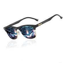 KANASTAL Polarized Sunglasses Men Semi Rimless