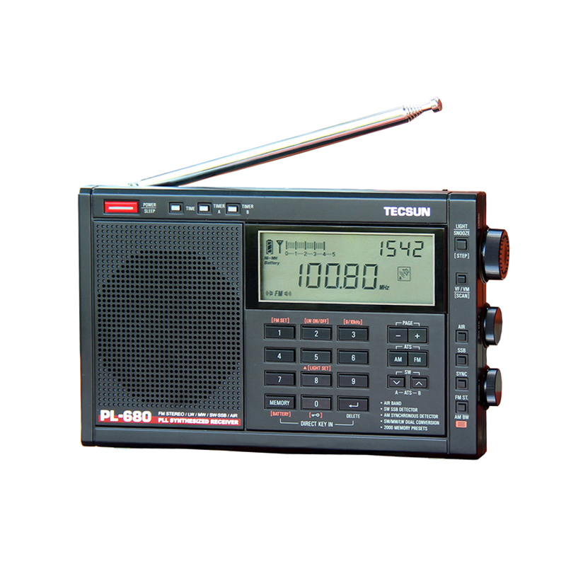 Lusya Tecsun PL-680 High Performance Full Band Digital Tuning Stereo Radio FM AM Radio SW SSB freeshipping tecsun pl 600 full band fm mw sw ssb pll synthesized stereo portable digital radio receiver pl600