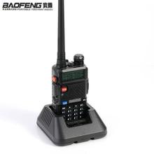 Yeni orijinal Baofeng UV 5R HF telsiz UV 5R Bao Feng için UV5R radyo taşınabilir UHF VHF çift bant çift ekran walkie talkie