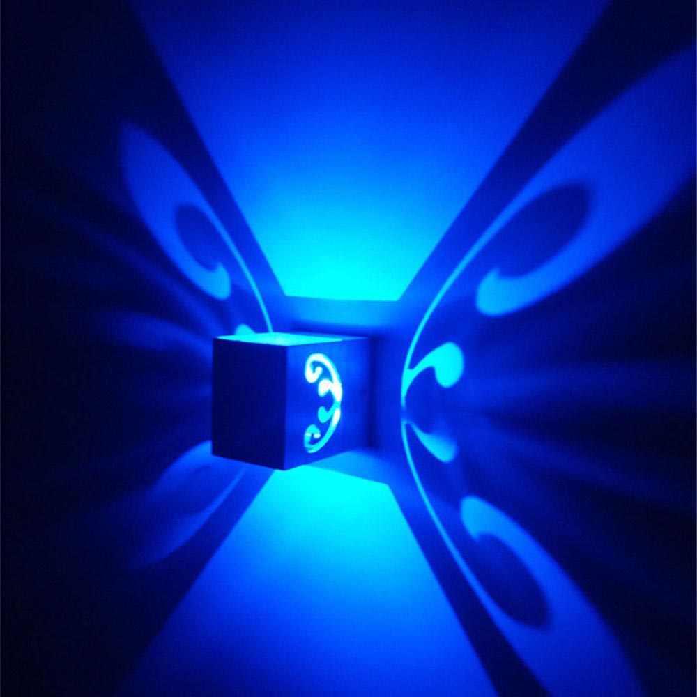 Светодиодный настенный светильник бра 3 Вт бабочка алюминий вверх/вниз Ressen в бра свет KTV вечерние бар свет 110 В 220 В Быстрая доставка JQ