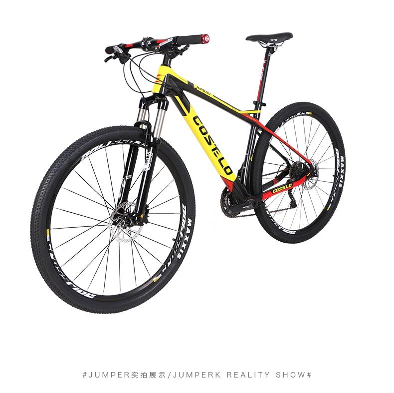 HTB1IpS.XbYI8KJjy0Faq6zAiVXaG - 27.5/29inch carbon fiber mountain bicycle Pneumatic shock 30/ 33 velocity carbon fiber body light-weight Cross nation weapon MTB