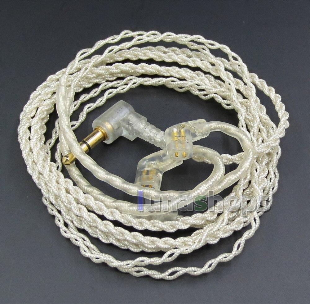 JYL avec crochet pour écouteurs feuille d'argent plaqué PU câble de peau pour ue18 11pro 10pro 7pro personnalisé dans l'oreille LN005455