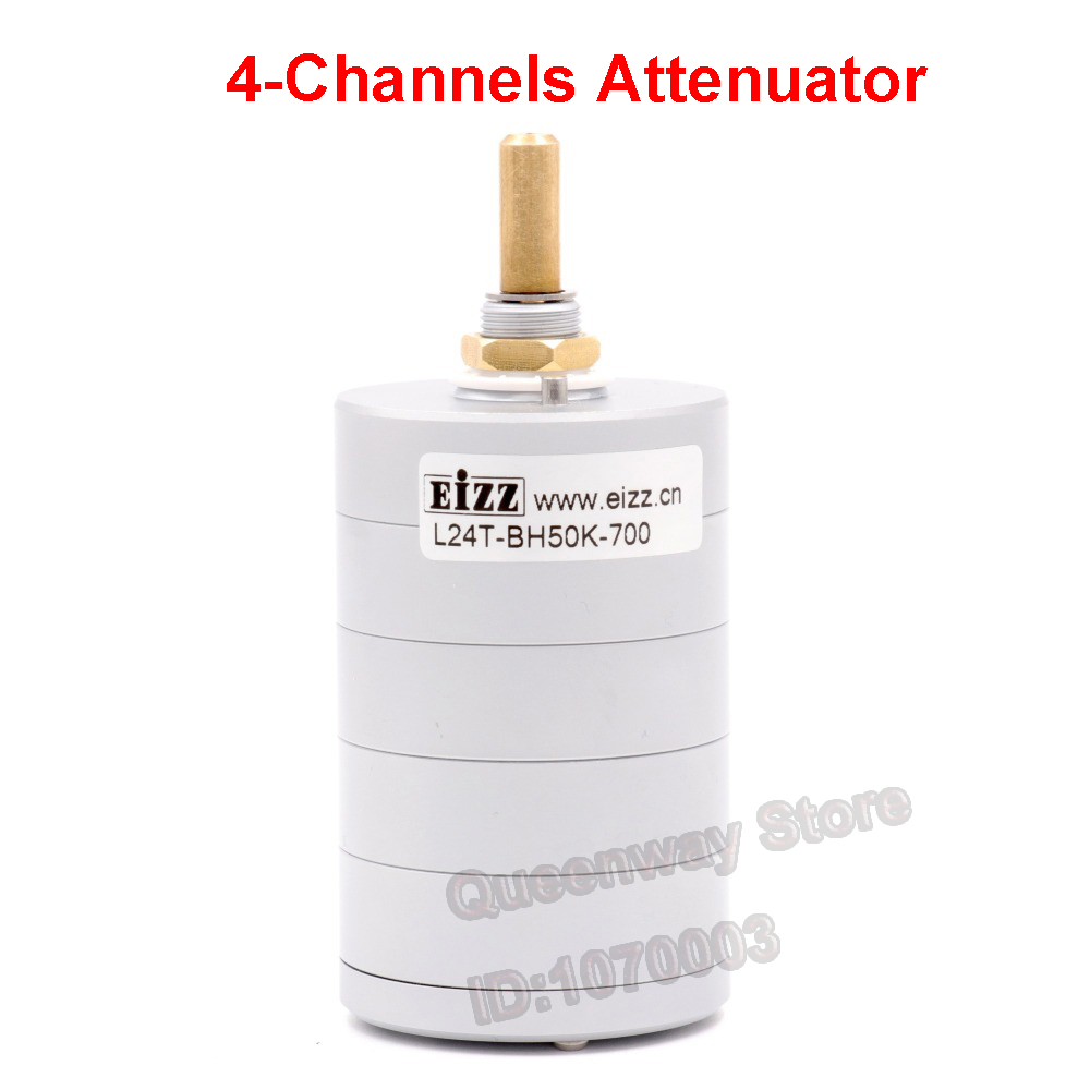 1PC EIZZ 24-Step 4-channels Attenuator Volume Potentiometer Sound Control With 50K/100K for choose free shipping new 1pc 2 pole 23 step rotary switch attenuator volume control pot potentiometer diy