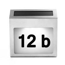 Lotniczy zestaw słuchawkowy tabliczka na drzwiach lampa wodoodporna IP65 Led dom apartament numer światła ogród lampy ścienne lampy uliczne światła tanie tanio Słoneczne Klin Bateria litowa 2 lata pobytu Nowoczesne Ze stali nierdzewnej Wakacje CCC CE Doorplate Lamp Żarówki led