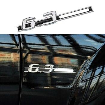 1-40 piezas para 6,3 AMG emblema 3D coche guardabarros Logo pegatina para Mercedes Benz B C E S G ML clase SL GT CLS W220 W221 W222 Accesorios