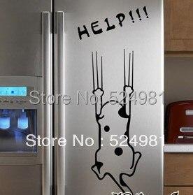 cartoon refrigerator kitchen cabinet stickers furniture glass stickers wall stickerschina mainland - Plastic Kitchen Cabinet