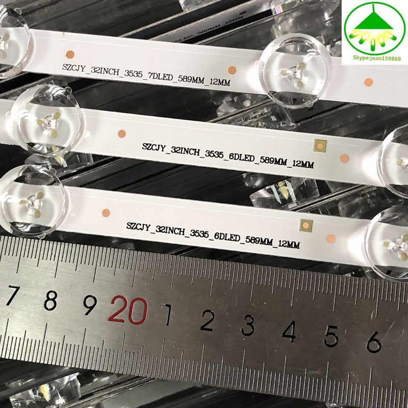 3 قطعة/المجموعة LED شريط إضاءة خلفي ل LG التلفزيون UOT بولا 2.0 POLA2.0 32 HC320DXN-VSFP4-21XX 32LN5100 32LN545B 32LN5180 شحن مجاني