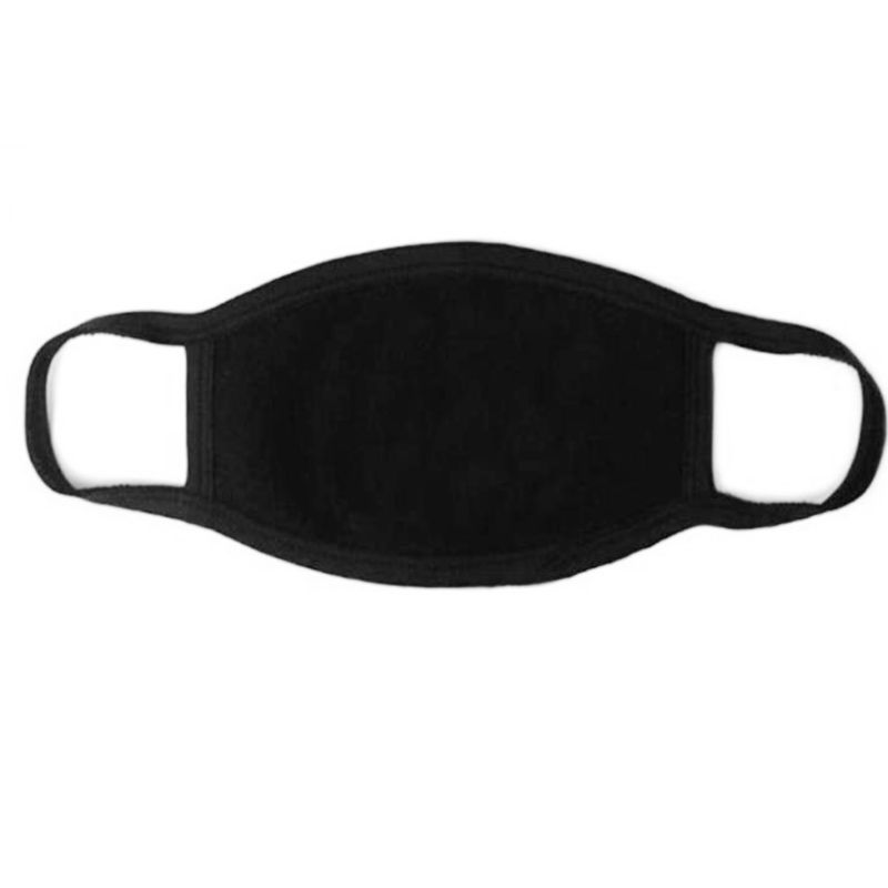 Black Color Face Mouth Mask Unisex Mouth Mask Washable Cotton Anti Dust Protective Reusable 3 Layers Mask For Men Women