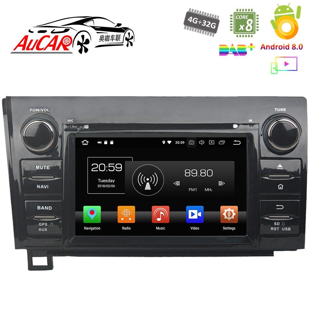 Lecteur DVD de voiture Android 8.0 pour Toyota Tundra Sequoia 2007-2013 système multimédia GPS de voiture HD Bluetooth Radio WIFI 4G stéréo AUX
