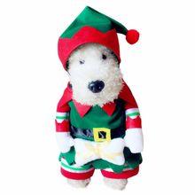 Наборы для собак Домашние животные превращаются в Забавные костюмы, стоящий с рождественским эльфийский принц, украшение, одежда, костюм, Забавный наряд, стоящий
