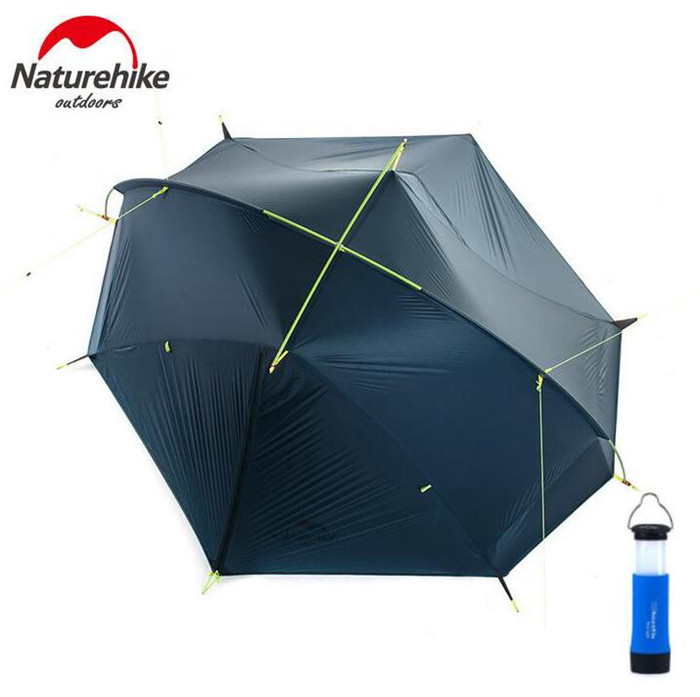 Naturehike Outdoor Portable Camping Tent For 1-2 Person 4 Season 20D Silicone Fabric Double Layer Rainproof Lightweight Tent naturehike 3 person camping tent 20d 210t fabric waterproof double layer one bedroom 3 season aluminum rod outdoor camp tent
