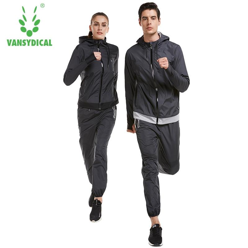 99e6cb5ca9bcc Detalle Comentarios Preguntas sobre Vansydical sudoración deportiva trajes  Womens Gym Yoga Tracksuits Running Jacket pantalones Set perder peso ...