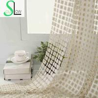 Slow Soul Beige Light Brown Luxury Hotel Curtains Tulle Kitchen Short For Bedroom Living Room Modern